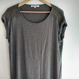 Rose & Olive Gold Detail Sleeve Tee